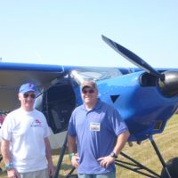 Bob Pooler with factory test pilot Harrison Smith